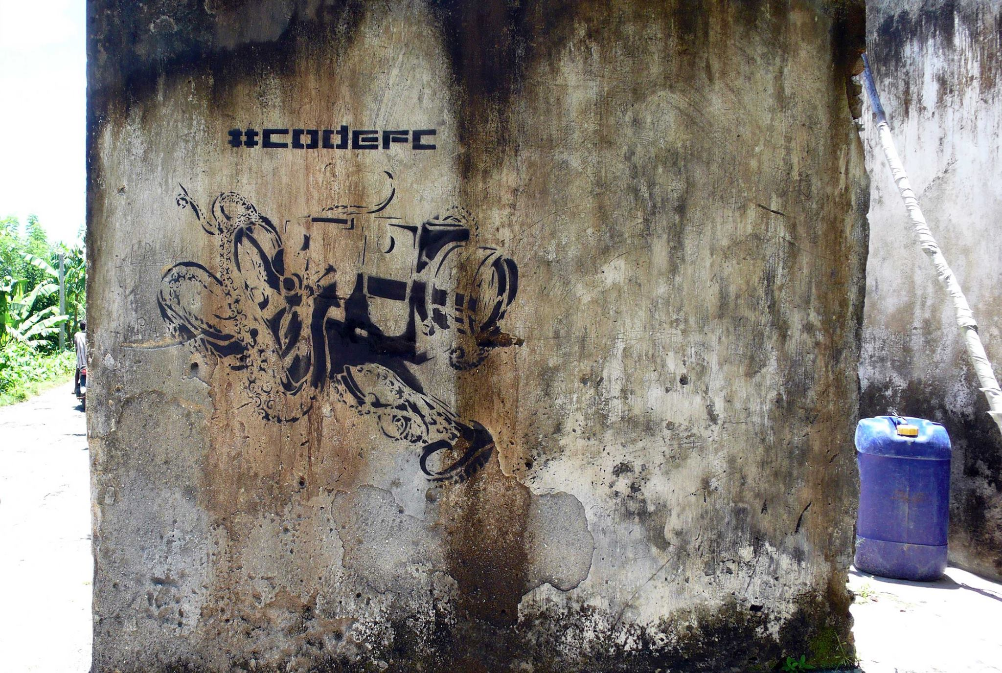 #codefc Street Art - battleface insurance