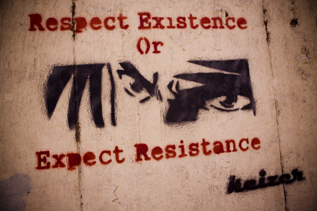 """Respect Existence or Expect Resistance"" by Keizer"