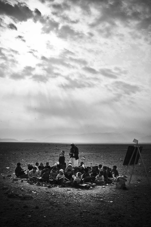 Makeshift schools litter the Afghan Pakistan border. © Jacob Simkin.