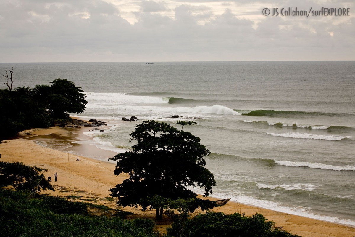 long point waves in Liberia